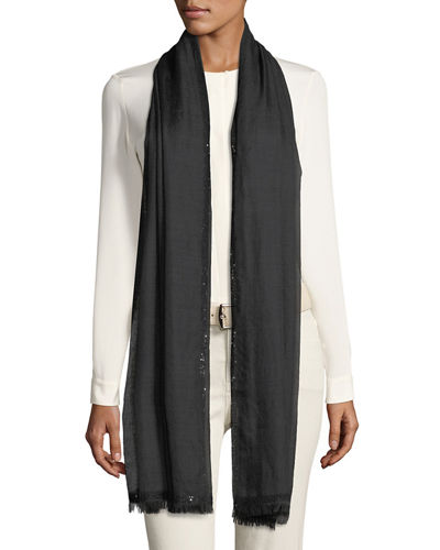 Stola Allure Sequin Trim Scarf