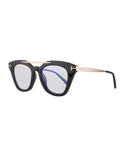 Anna Square Acetate/Metal Sunglasses