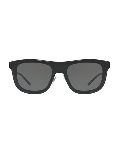 Notched-Arms Square Sunglasses