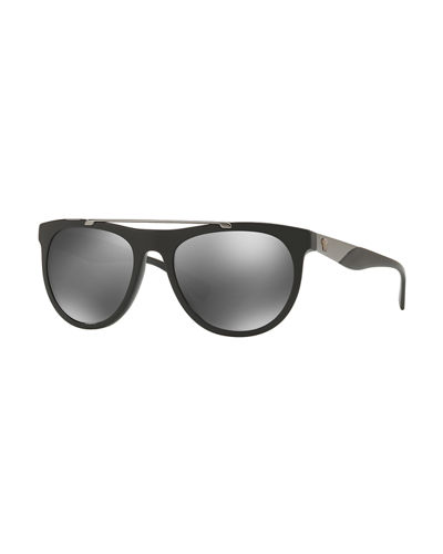 Square Acetate Contrast-Temple Sunglasses