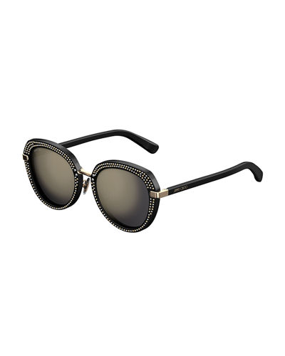 Mori Round Studded Sunglasses