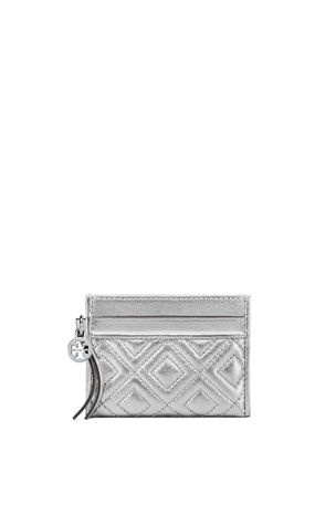 Tory Burch Fleming Metallic Slim Card Case