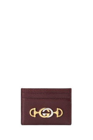 Gucci Gucci Zumi Leather Card Case