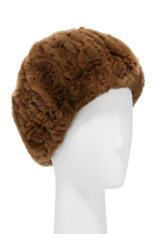 Surell Accessories Rabbit Fur Stretch Headband/Neckwarmer