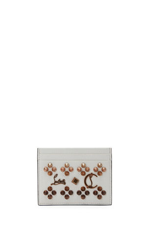 Christian Louboutin Kios Studded Leather Card Case