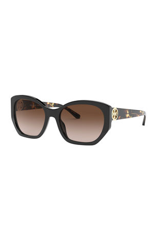 Tory Burch Gradient Butterfly Acetate Sunglasses