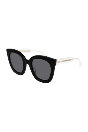 Gucci Colorblock Acetate Square Sunglasses