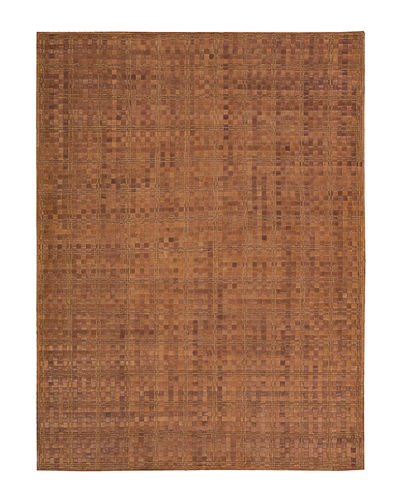 Derby Woven Leather Rug, 5'3