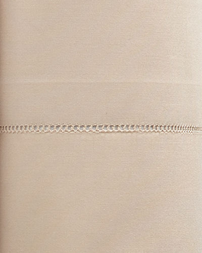 King 406TC White Percale Fitted Sheet