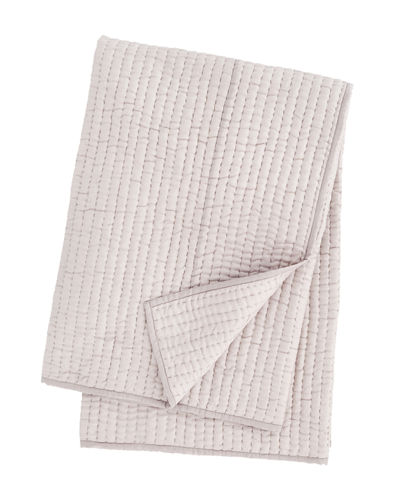 Annie Selke Luxe Seta Quilted Silk Throw