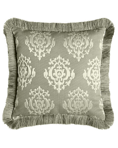Le Plaza Reversible Pillow with Fringe, 18