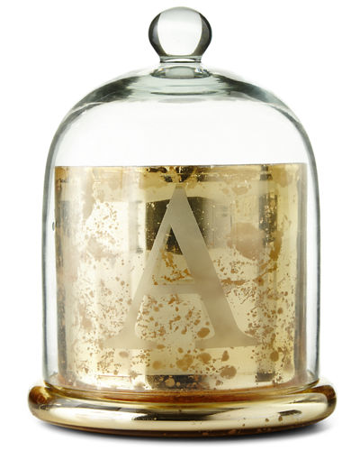 Monogrammed Glass Cloche