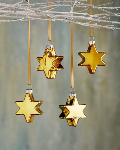 Star Christmas Ornaments, Set of 4