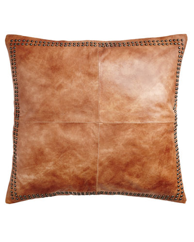 "Dohni Leather Sham, 26""Sq."