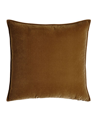 "Franklin Velvet Pillow, 26""Sq."