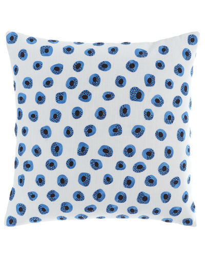 "Thumbprint Embroidered Pillow, 20""Sq."