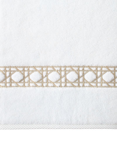 Cane-Embroidered Hand Towel
