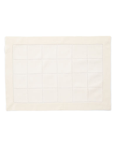 Block Hemstitch Placemats, Set of 4