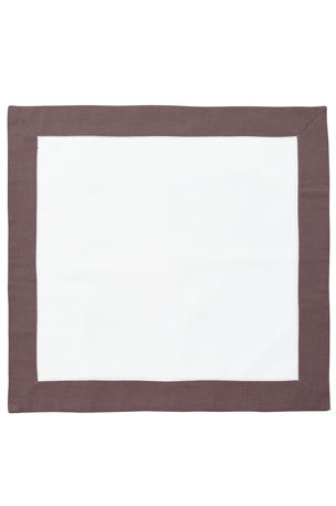 Boutross Imports Color Border Hemstitch Napkins, Set of 4