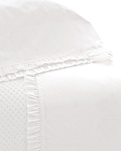 Two Standard 200TC Classic Ruffle Pillowcases