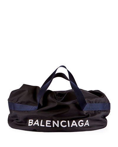 Nylon Logo Basic Duffel Bag