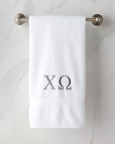 Bath Towel with Greek Monogram