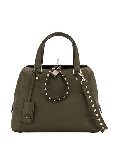 Rockstud Twiny Leather Duffle Bag