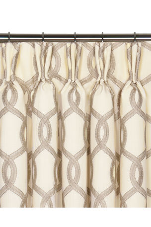 "Eastern Accents Gresham Pinch Pleat Curtain Panel, 108""L"