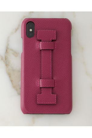 iPhone? X Leather Case w/ Finger Holder