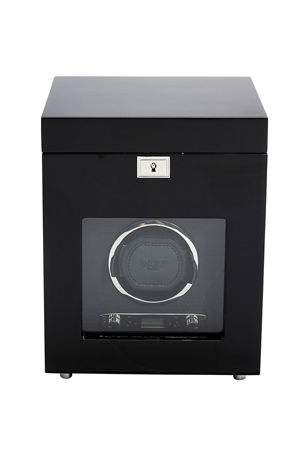 WOLF Savoy Single Watch Winder with Storage