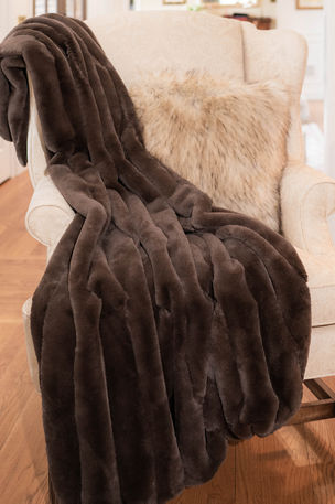Fabulous Furs Posh Faux Fur Throw