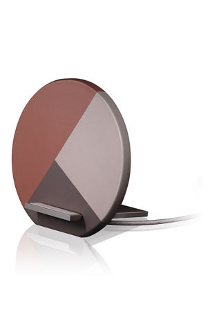 Native Union Marquetry Leather-Wrapped Wireless Charging Dock