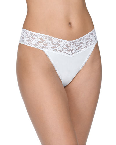 Original-Rise Organic Cotton Thong, Basic Colors
