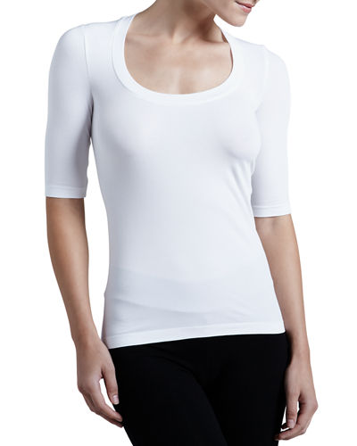 Como Scoop-Neck Half-Sleeve Shirt