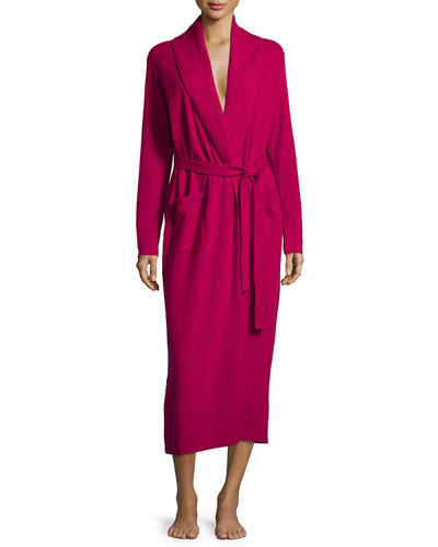 Cashmere Shawl-Collar Long-Sleeve Robe