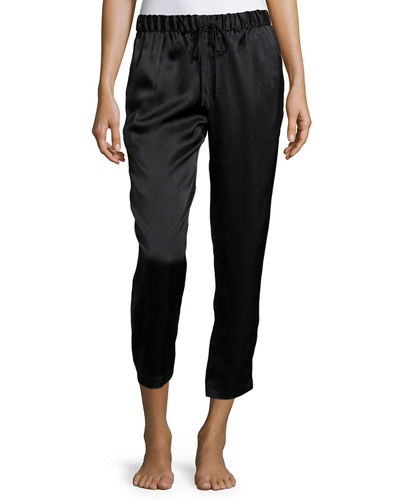 Josie Natori Drawstring Silk Lounge Pants
