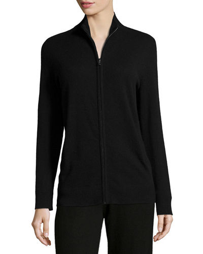 Basic Zip-Up Cashmere Jacket