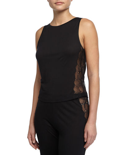 Iris Sleeveless Pajama Top with Lace