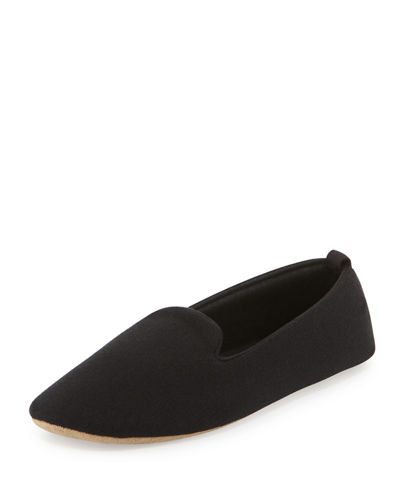 Acorn Cashmere-Blend Smoking Slipper