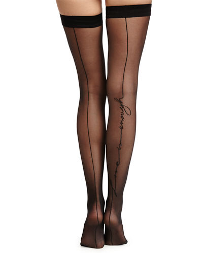 Wolford Love Is Enough Thigh-High Stay-Ups