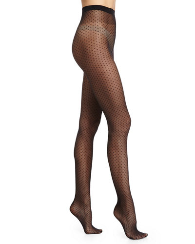 Wolford Valerie Dot-Pattern Sheer Tights