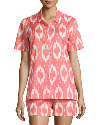 Natori Batik Printed Shorty Pajamas