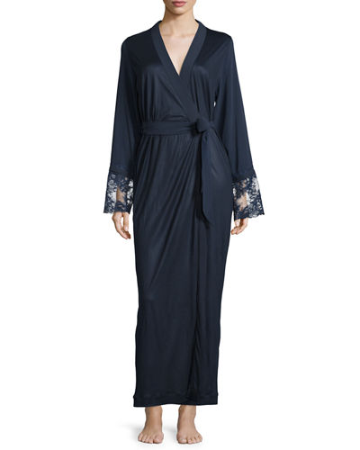 La Perla Whisper Long Robe W/Lace
