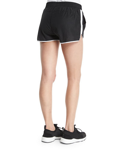 Logo-Front Mesh Training Shorts W/Stripe