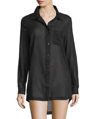 Richie Cotton Woven Sleepshirt