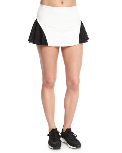 Deuce Mesh-Panel Tennis Skirt