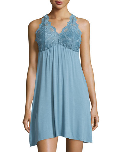 Lace-Back Tank Lounge Dress/Chemise