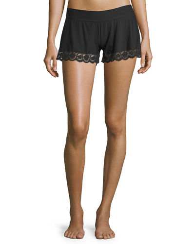 Commando Butter Lace-Trimmed Lounge Shorts