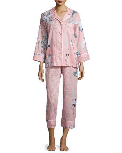 Natori Sakura Printed Two-Piece Pajama Set
