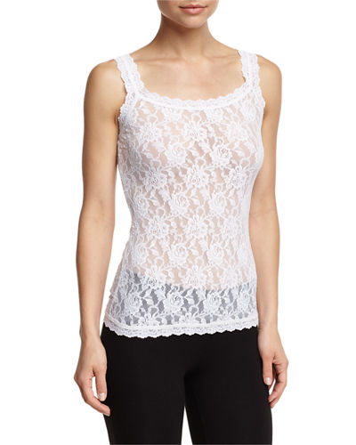 Unlined Sheer Lace Camisole, Plus Size